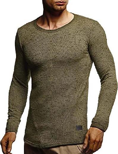 abordables Hommes-leif nelson hommes moderne basique à manches longues t-shirt pull à capuche pull veste slim fit ln8105; moyen, noir
