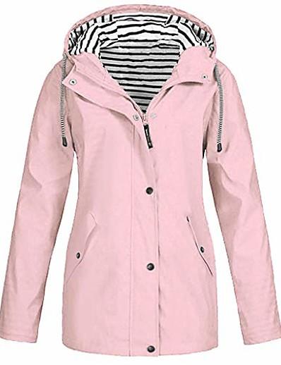 cheap Hoodies & Sweatshirts-women's mountain snow waterproof ski jacket detachable lightweight hood windproof fleece parka rain jackt winter coat