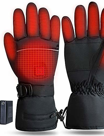 cheap SPORTSWEAR-heated gloves rechargeable, 3.7v 4000mah battery operated electric thermal glove for men women, touchscreen washable heating hand warmer for motorcycle riding cycling fishing ski hiking - xl
