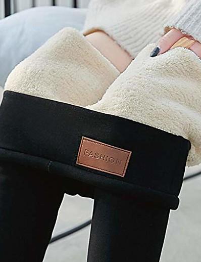 abordables Pantalons et Jupes Femme-Femme Collants / Jambières Quotidien Pantalon Legging en laine d'agneau (chaton) Legging en cachemire d'agneau (étiquette cuir)