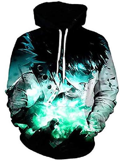 cheap Men's 3D-my hero academia hoodie 3d printed long sleeve bakugo izuku midoriya jacket pullover sweatshirt