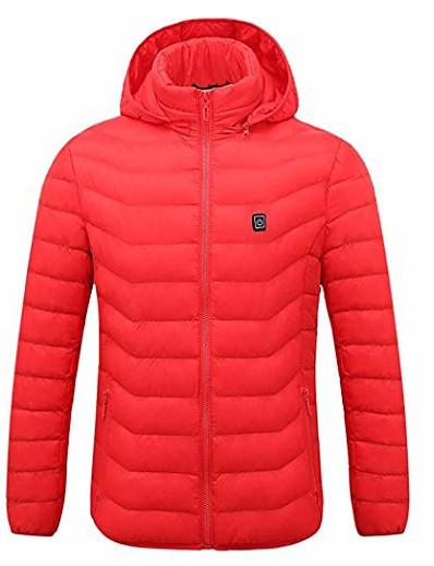 cheap Men's Outerwear-men women heating hooded jacket premium motorcycle riding skiing snow coat