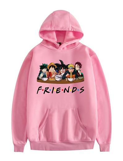 cheap Cosplay & Costumes-Inspired by Naruto Midoriya Izuku Cosplay Costume Hoodie Polyester / Cotton Blend Graphic Printing Harajuku Graphic Hoodie For Women's / Men's