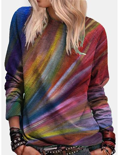 cheap Hoodies & Sweatshirts-Women's Hoodie Sweatshirt Graphic Tie Dye Daily Basic Casual Hoodies Sweatshirts  Blue Yellow