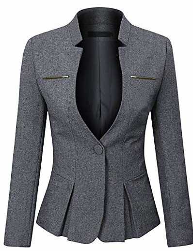 cheap Blazers-women's formal business work 1 button office blazer jacket suit