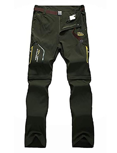 cheap SPORTSWEAR-men's lightweight convertible outdoor fast dry breathable trousers hiking pants jt818-armygreen8-medium