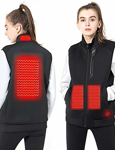 cheap SPORTSWEAR-women's heated vest lightweight slim fit insulated usb electric heating winter vest (power bank not included) (xl)