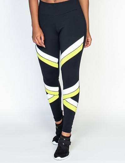 abordables Pantalons et Jupes Femme-Femme Sportif Confort Gymnastique Yoga Leggings Pantalon Avec motifs Cheville Imprimé Noir