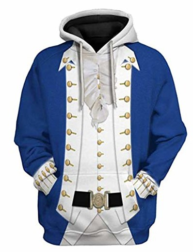 cheap Men's 3D-mens the historical figure hoodie 3d printed cosplay sweatshirts (alexander hamilton, s)
