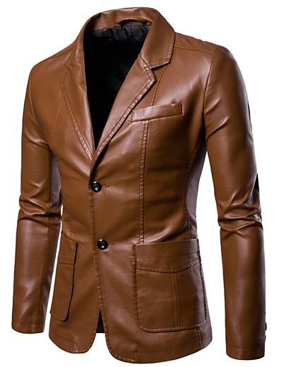 preiswerte Herren Überbekleidung-Blazer für Herren - echte Lammfelljacken für Herren Sportmäntel Oberbekleidung Mantel
