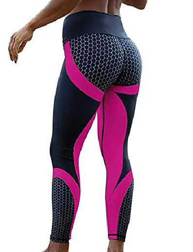 cheap Running, Jogging & Walking-butt lifting anti cellulite sexy leggings for women high waisted yoga pants workout tummy control sport tights red