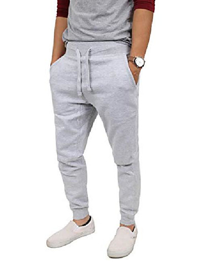 cheap Men's Bottoms-essentials mens premium fleece jogger pants active elastic cotton casual sweatpants