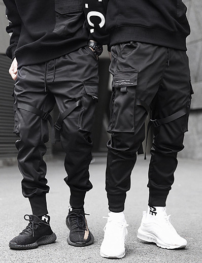 cheap Men's Bottoms-mens joggers pants long multi-pockets outdoor fashion casual relaxed fit streetwear with drawstring cargo pants