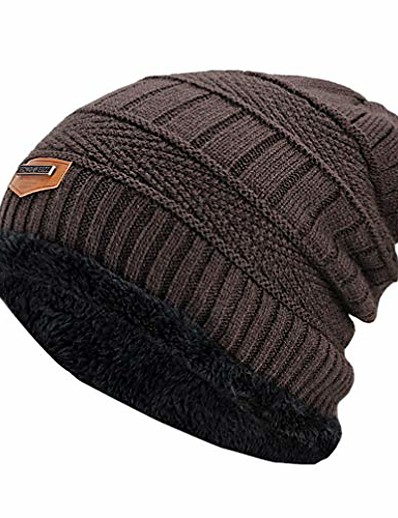 cheap SPORTSWEAR-men's winter hat fashion knitted black hats fall hat thick and warm and bonnet skullies beanie soft knitted beanies cotton