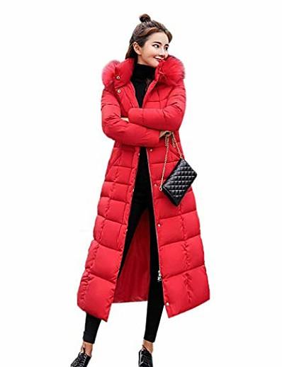 abordables Doudounes & Parkas Femme-femmes hiver épaississement doudoune mi-mollet long manteau vers le bas rouge