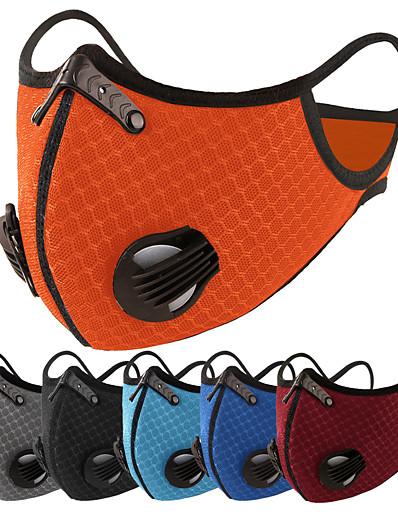 cheap NEW IN-Sports Mask Pollution Protection Mask Solid Color Portable Breathable Soft Comfortable Bike / Cycling Navy orange Blue Winter for Unisex Adults' Cycling / Bike Bike / Bicycle Solid Color 1pc