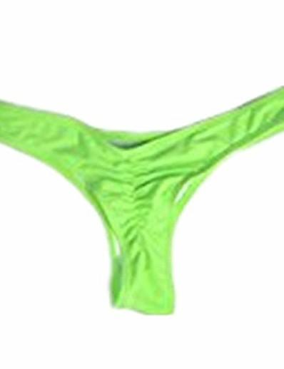 abordables Bas de Bikini-Maillot de bain string sexy d'été chaud pour femme, vert, petit