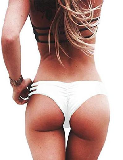 cheap Bikini Sets-womens sexy brazilian cheeky bikini bottoms strappy string panties hipster thong swimwear m white