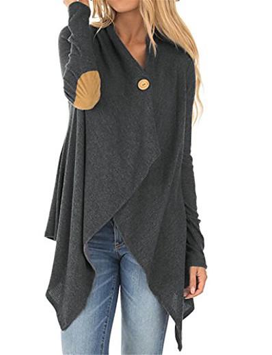 preiswerte Damenmäntel und Trenchcoats-Clearance Mantel Mantel für Frauen Schal Wraps Patchwork unregelmäßige Outwear