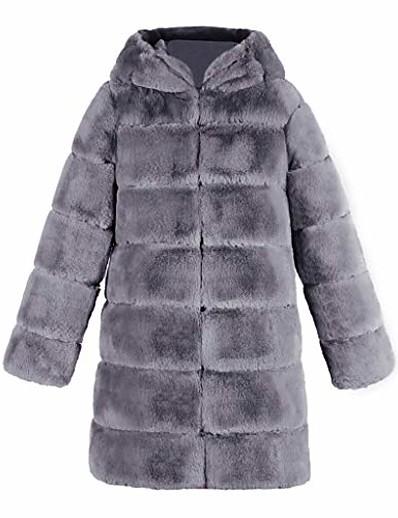 cheap Outerwear-elegant womens artificial faux fur soft warm sleeveless vest waistcoat jacket gilet outwear coat (2xl, gray 4)