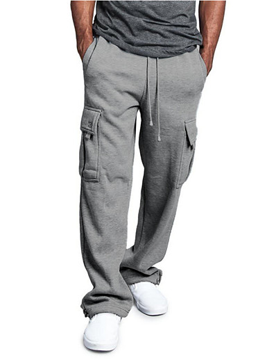 cheap Men's Bottoms-men's heavyweight fleece cargo sweatpants