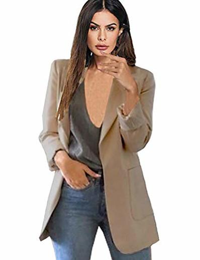 cheap Outerwear-Women's Blazer Light Pink / Navy / White S / M / L