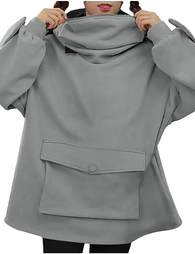 abordables Tendances 2021-femmes nouveauté grenouille hoodies mignon forme animale zip up manches longues rondes sweats à capuche pull tops plaine noir