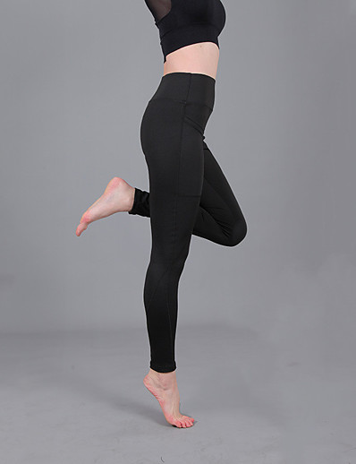 cheap Running, Jogging & Walking-Women's High Waist Running Tights Leggings Compression Pants Athletic Bottoms with Phone Pocket Fitness Gym Workout Performance Running Training Breathable Soft Sweat wicking Normal Sport Solid