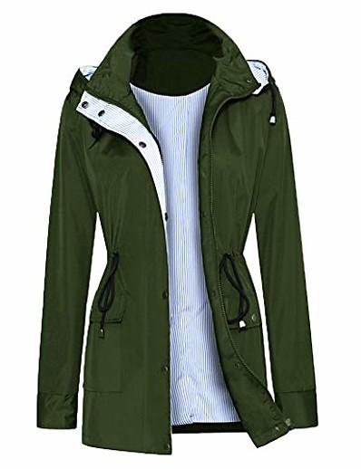 cheap Softshell, Fleece & Hiking Jackets-women rain jacket lightweight breathable raincoats waterproof active outdoor hooded trench coats