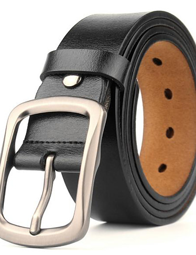 cheap Belt-Men's Casual / Basic Leather Waist Belt - Solid Colored Vintage / Work