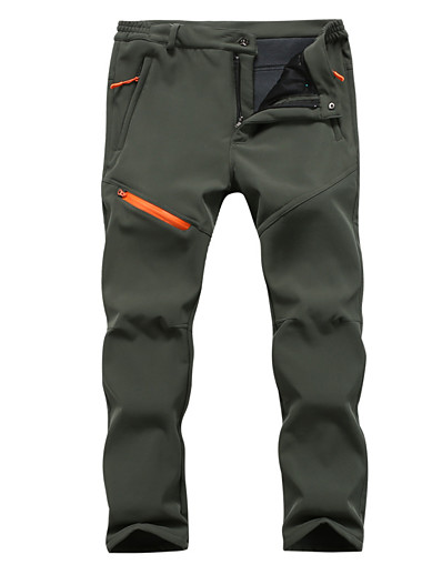 cheap SPORTSWEAR-Men's Hiking Pants Trousers Softshell Pants Tactical Pants Winter Outdoor Thermal Warm Breathable Quick Dry Sweat-Wicking Wool Cotton Cargo Pants Bottoms Black Army Green Dark Gray Camping / Hiking