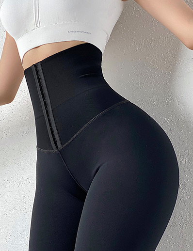 cheap Exercise, Fitness & Yoga-Women's High Waist Yoga Pants Tights Tummy Control Butt Lift Breathable Black Gray Nylon Yoga Fitness Gym Workout Winter Sports Activewear Stretchy / Moisture Wicking
