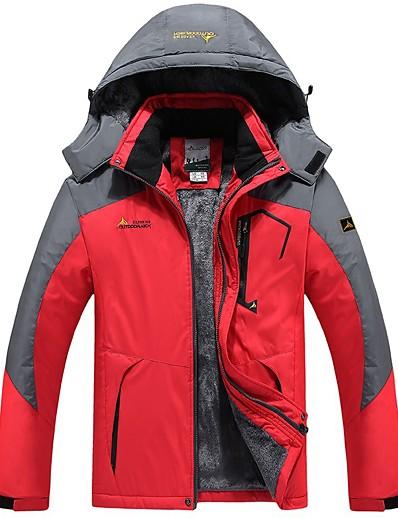 cheap Ski & Snowboard-Men's Ski Jacket Fleece Jacket Ski / Snowboard Winter Sports Thermal Warm Waterproof Windproof Fleece Terylene Jacket Winter Fleece Jacket Ski Wear / Long Sleeve / Plus Size