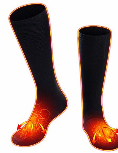 cheap Ski & Snowboard-Heated Socks for Women Men, Rechargeable Electric Socks Heated Socks Foot Warmer for Chronically Cold Foot, Great for Skiing Hiking Motorcycling Warm Winter Socks