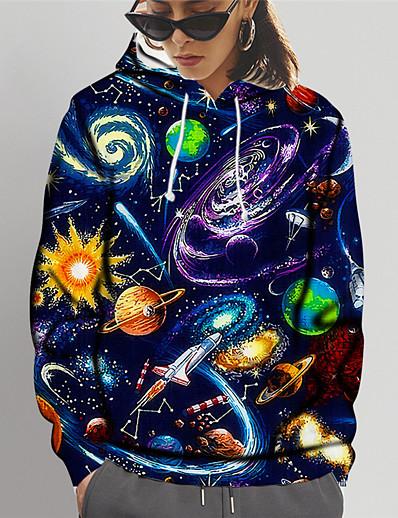 cheap 2021 Trends-Women's Pullover Hoodie Sweatshirt 3D Print Daily Sports 3D Print 3D Print Casual Hoodies Sweatshirts  Rainbow