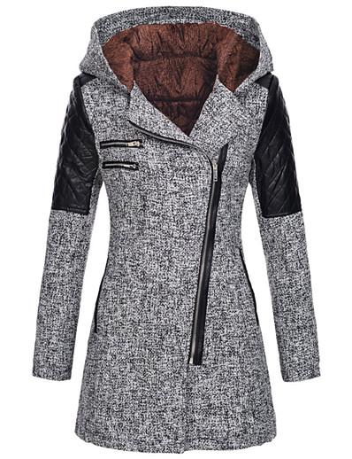abordables Tendances 2021-veste femme élégante cardigan casual épais doux outwear (gris, xl (2xl))