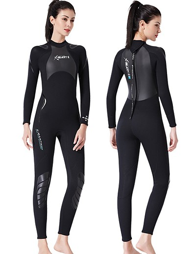 cheap Rash Guards-Dive&Sail Women's Full Wetsuit 3mm SCR Neoprene Diving Suit Thermal Warm Quick Dry Stretchy Long Sleeve Back Zip Knee Pads - Swimming Diving Surfing Solid Colored Spring &  Fall
