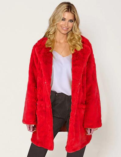 abordables Manteaux & Vestes Femme-femmes hiver épais chaud manteau de fourrure parka longue veste outwear pardessus