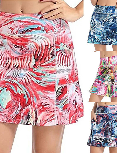 cheap Golf, Badminton & Table Tennis-Women's Golf Skirt Breathable Quick Dry Soft Athleisure Outdoor Autumn / Fall Spring Summer Red Blue Pink Dark Blue / Micro-elastic