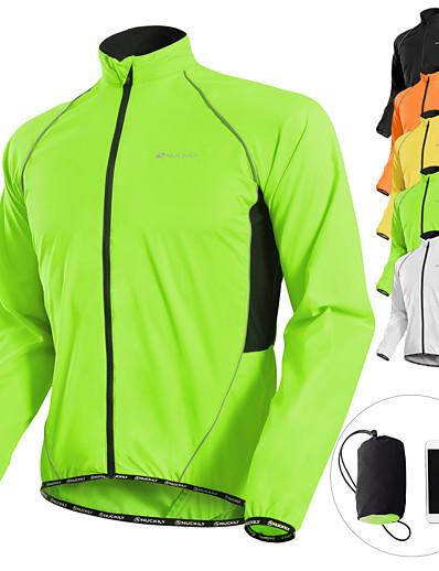 halpa Pyöräily-nuckily miesten pyöräily takki jersey ihon takki talvipyörä takki tuulitakki sadetakki vedenpitävä tuulenpitävä hengittävä anti-uv kannettava pitkähihainen vuori mtb road pyöräily vaatteet urheiluvaatteet