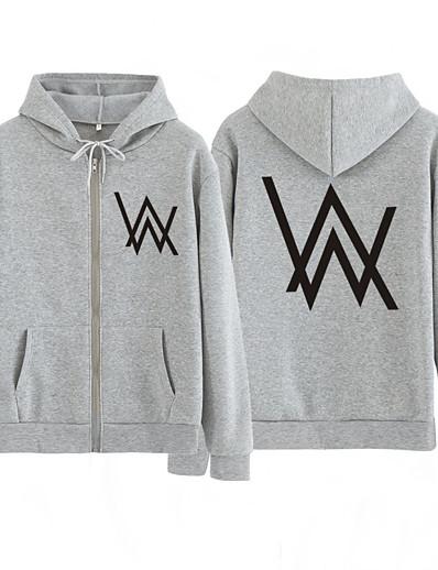 tanie Bieganie, jogging i chodzenie-hnosd winter fleece sweatshirt alan walker faded hoodie men sign print hip rock star sweatshirt fleece band hoodies men