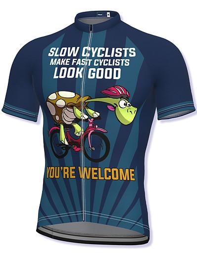 cheap Sportwear-21Grams Men's Short Sleeve Cycling Jersey Spandex Dark red Dark Green Dark Blue Bike Top Mountain Bike MTB Road Bike Cycling Breathable Quick Dry Sports Clothing Apparel / Athleisure