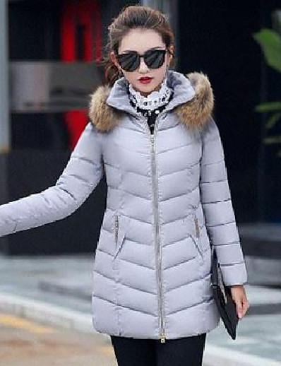 cheap Down& Parkas-hot sale women's parka winter coat overcoat long down slim jacket outwear (gray, xl)