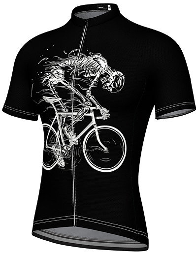 cheap Cycling-21Grams Men's Short Sleeve Cycling Jersey Summer Spandex Black Blue Yellow Bike Top Mountain Bike MTB Road Bike Cycling Quick Dry Breathable Sports Clothing Apparel / Athleisure