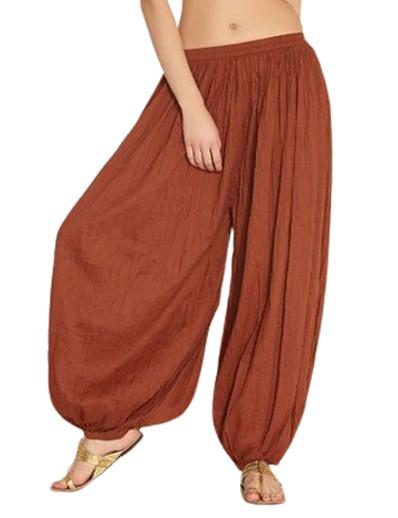 cheap Exercise, Fitness & Yoga-aihihe wide leg pants for women plus size long trousers high waist harem yoga pilates pants baggy gypsy hippie pants purple