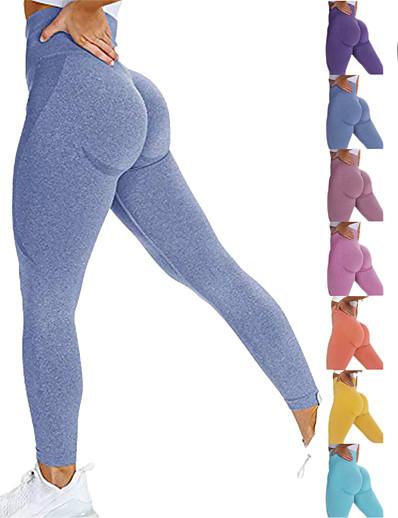 cheap Running, Jogging & Walking-Women's Yoga Pants High Waist Tights Leggings Bottoms Scrunch Butt Seamless Tummy Control Butt Lift 4 Way Stretch 9165 Pants-Medium Gray 9165 Pants-Dark Green 9165 Pants-Dark Blue Yoga Fitness Gym