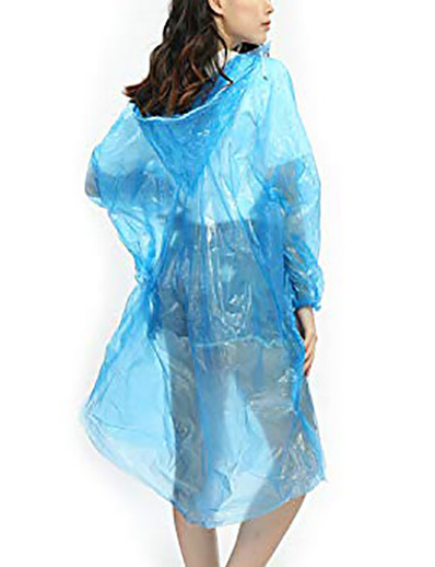 cheap Softshell, Fleece & Hiking Jackets-Rain Poncho Waterproof Hiking Jacket Rain Jacket Outdoor Waterproof Quick Dry Lightweight Breathable Raincoat Poncho Top Fishing Climbing Running 65 grams of new material PE [orange] 65 grams of new