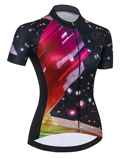 cheap Cycling-21Grams Women's Short Sleeve Cycling Jersey Summer Spandex Polyester Black / Red Bike Jersey Top Mountain Bike MTB Road Bike Cycling Quick Dry Moisture Wicking Breathable Sports Clothing Apparel