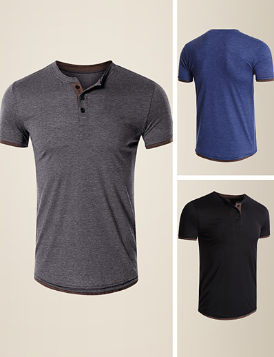cheap Men's Clothing-LITB Basic Men's Short Sleeve T-Shirt Solid Color Casual TopBasic Non-Printing Tee Soft Touch Shirt Daily