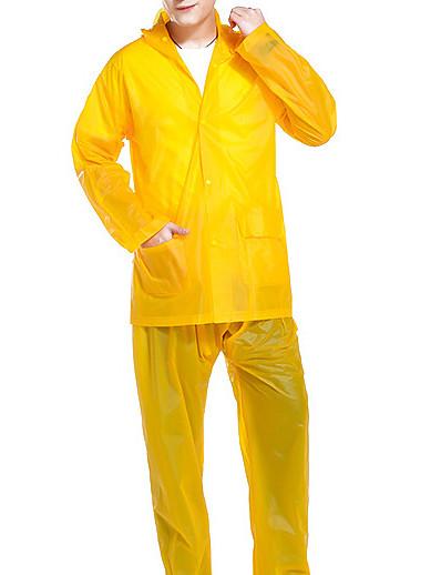 cheap Softshell, Fleece & Hiking Jackets-Men's Women's Rain Poncho Hiking Raincoat Rain Jacket Winter Summer Outdoor Quick Dry Lightweight Breathable Sweat wicking Pants / Trousers Bottoms Clothing Suit Hunting Fishing Climbing Zhang Cyan